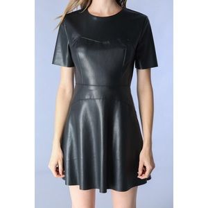 Black Faux Leather LBD